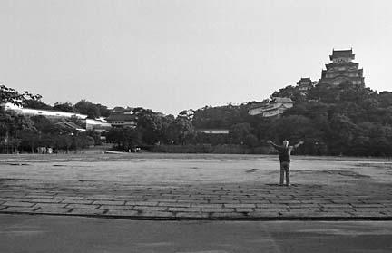 姫路城の日の出