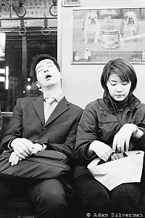 Sleeping Salaryman on Subway
