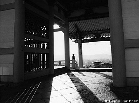 Shadows at Kiyomizu Temple